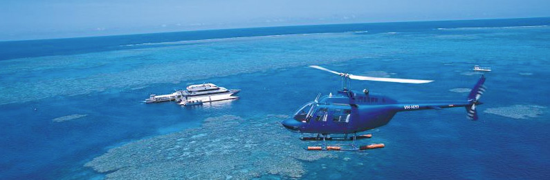 Outer Great Barrier Reef Helicopter Flight